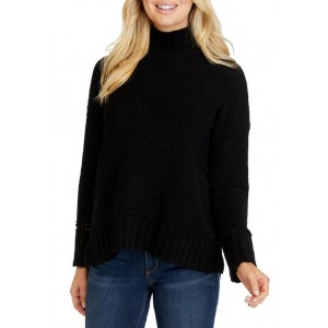 New Directions® Women's Long Sleeve Turtleneck Chenille Sweater