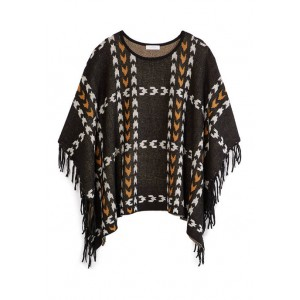 New Directions® Women's Plaid Poncho with Fringe