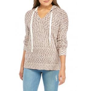 Wonderly Junior's Mix Yarn Hooded Sweater