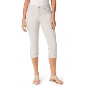 Bandolino Women's Cuff Twill Capri Pants