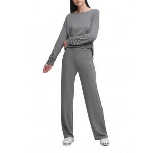 DKNY Wide Leg Luxe Lounge Pants
