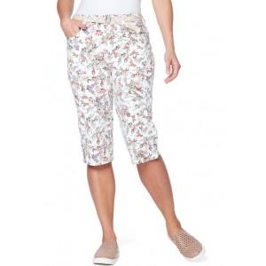 Gloria Vanderbilt Women's Mila Belted Skimmer Pants