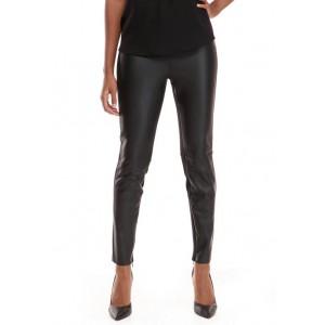 Grace Elements Women's Faux Leather Front Leggings