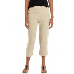 New Directions® Women's Button Waist Crop Pants