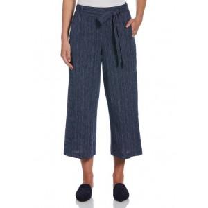 Rafaella Women's Belted Pull-On Cropped Pants