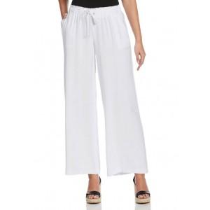 Rafaella Women's Solid Pull On Fluid Pants