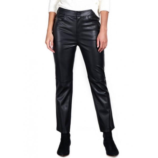Sanctuary Leather Like Kick Crop Pants