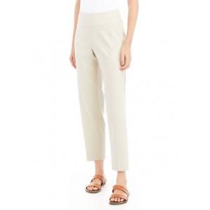 Sharagano Women's Linen Capri Pants