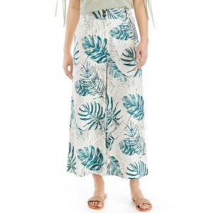 THE LIMITED Linen Cropped Wide Leg Pants