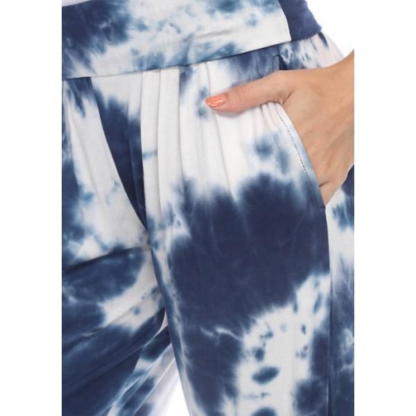 White Mark Women's Tie Dye Harem Pants